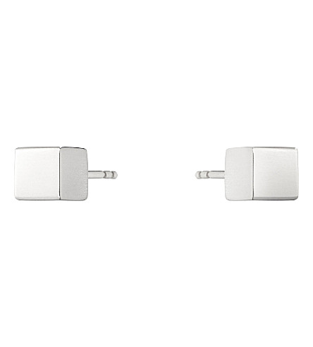 GEORG JENSEN Aria sterling silver cube earrings