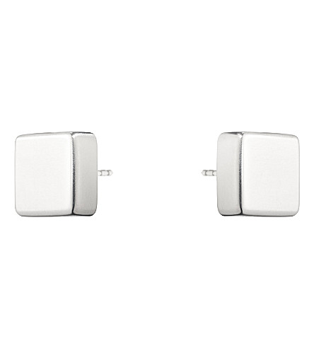 GEORG JENSEN Aria sterling silver square earrings