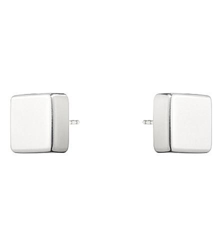 GEORG JENSEN Aria sterling silver square earrings