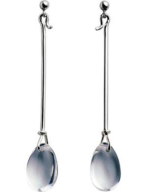 GEORG JENSEN Dew Drop sterling silver earrings