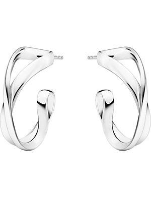 GEORG JENSEN Infinity sterling silver earrings