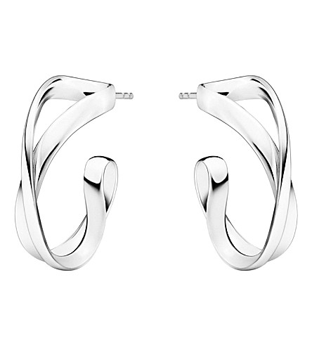 GEORG JENSEN Infinity sterling silver earrings (Sterling+silver