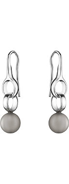 GEORG JENSEN Sphere sterling silver and moonstone drop earrings 3.1cm