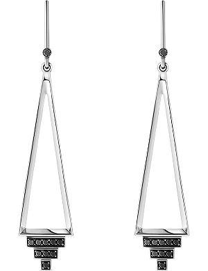 GEORG JENSEN Nocturne sterling silver black diamond earrings