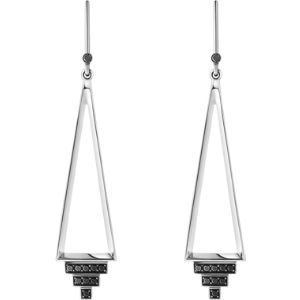 Nocturne sterling silver black diamond earrings