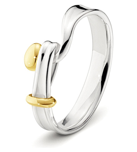 GEORG JENSEN Torun 18ct yellow-gold and sterling silver ring