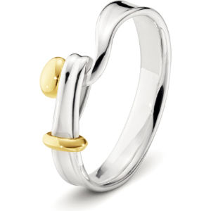 Torun 18ct yellow-gold and sterling silver ring