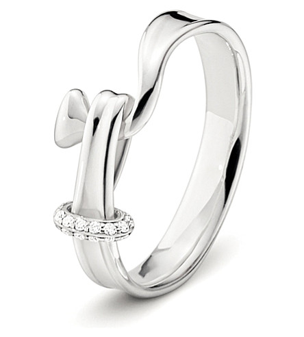 GEORG JENSEN Torun sterling silver and diamond ring