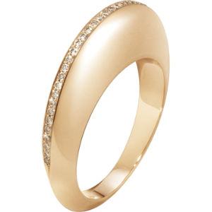 Dune 18ct rose gold and cinnamon diamonds ring