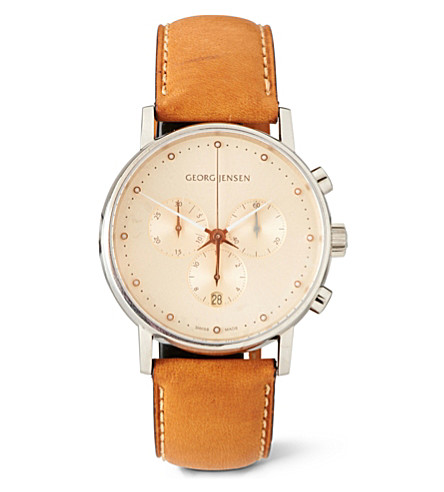 GEORG JENSEN Koppel chronograph watch (Champagne