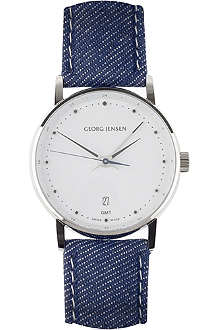 GEORG JENSEN Koppel denim dial watch