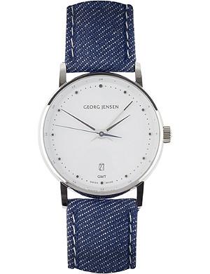 GEORG JENSEN Koppel denim dial watch