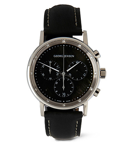 GEORG JENSEN Koppel chronograph watch (Black
