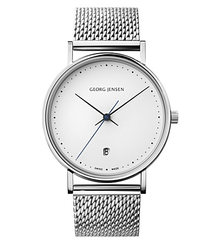 GEORG JENSEN Koppel stainless steel mesh watch