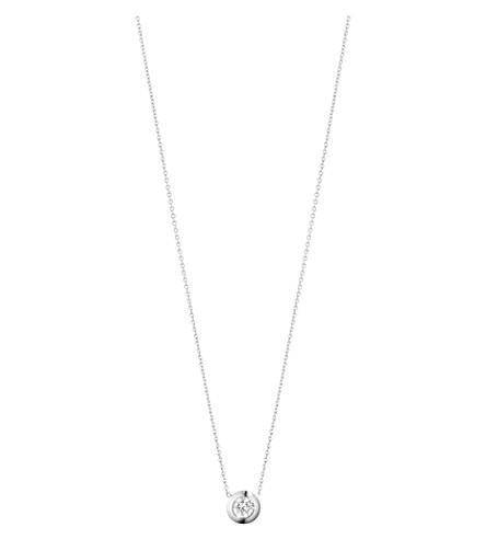 GEORG JENSEN Aurora 18ct white-gold and diamond necklace