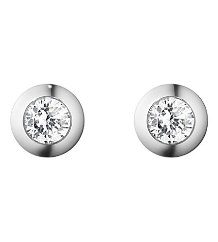 GEORG JENSEN Aurora 18ct white-gold and diamond earrings