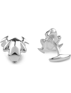 GEORG JENSEN Frog sterling silver cufflinks