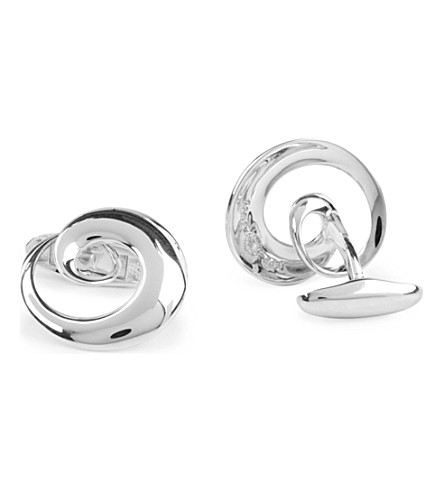 GEORG JENSEN Continuity sterling silver cufflinks