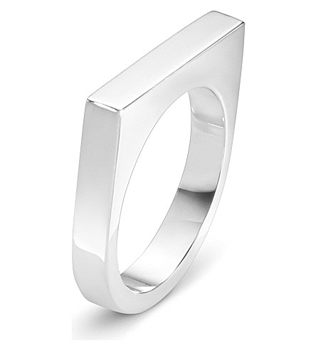 GEORG JENSEN Aria sterling silver slim ring