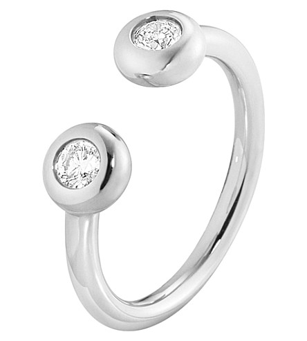 GEORG JENSEN Aurora 18ct white-gold and diamond ring