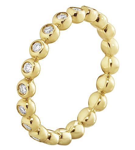 GEORG JENSEN Aurora 18ct yellow-gold and diamond ring
