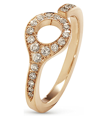 GEORG JENSEN Dune 18ct rose-gold and diamond ring