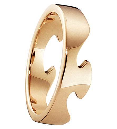 GEORG JENSEN Fusion End 18ct rose-gold ring