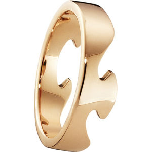 Fusion end 18ct rose-gold ring