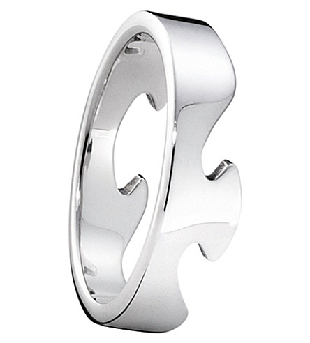 GEORG JENSEN Fusion end 18ct white-gold ring
