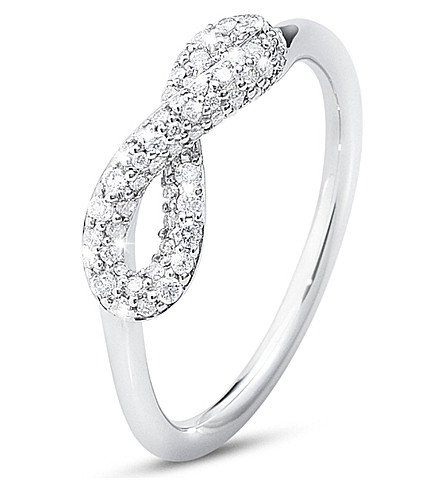 GEORG JENSEN Infinity sterling silver and diamond ring