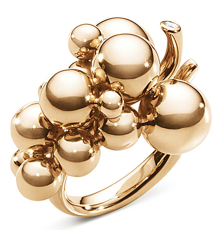 GEORG JENSEN Moonlight Grapes 18ct rose-gold and diamond ring