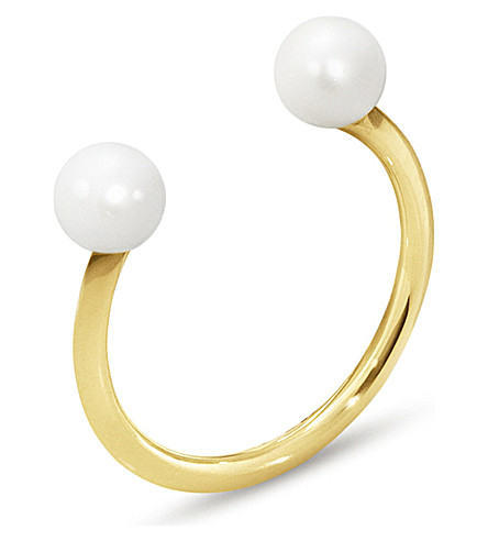 GEORG JENSEN Neva 18ct yellow-gold pearl ring