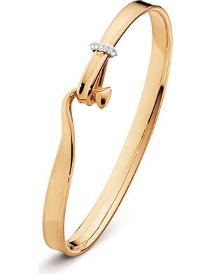 GEORG JENSEN Torun 18ct rose-gold and diamond bangle