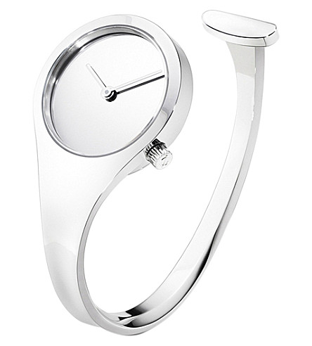 GEORG JENSEN Vivianna stainless steel bangle watch 27mm
