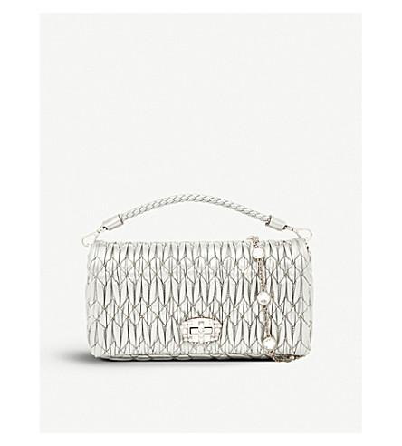 MIU MIU Cloqué-texture leather clutch bag (Cromo