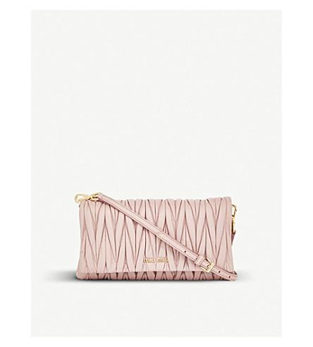 MIU MIU Quilted nappa-leather shoulder bag (Mughetto