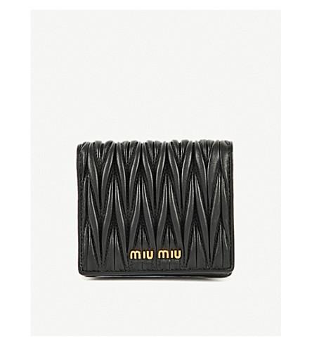 MIU MIU Quilted nappa-leather wallet (Nero