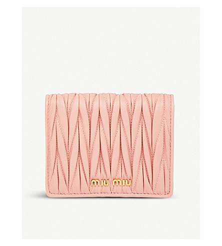 MIU MIU Quilted nappa-leather wallet (Orchidea