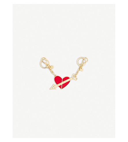 MIU MIU You And Me enamelled metal keychain (Fuoco