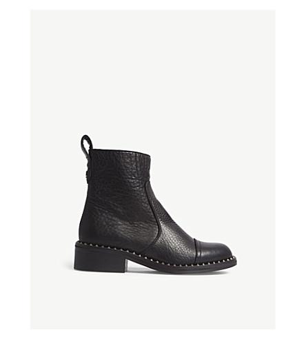 ZADIG & VOLTAIRE Empress Clous studded leather ankle boots (Noir