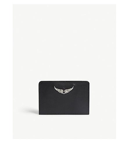 ZADIG & VOLTAIRE 皮革卡夹 (黑色