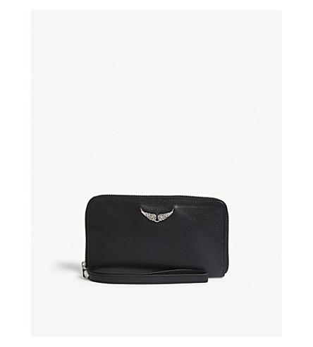 ZADIG & VOLTAIRE Leather iPhone case (Noir