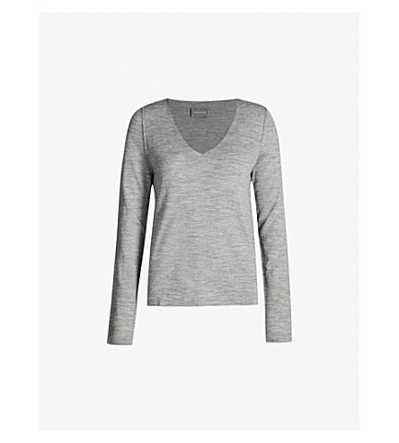 zadig & voltaire nosfa 针织羊毛套头衫 (gris + chine)
