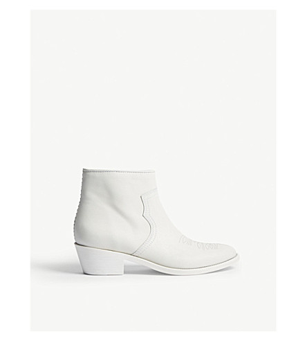 ZADIG & VOLTAIRE Pilar Low Roma leather boots (White