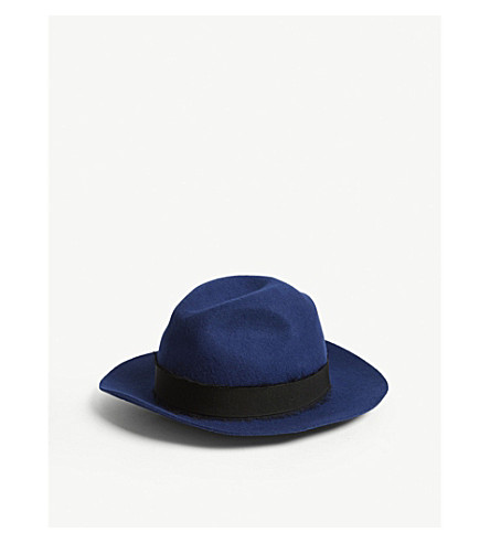 ZADIG & VOLTAIRE Alabama ribbon wool hat (Blue