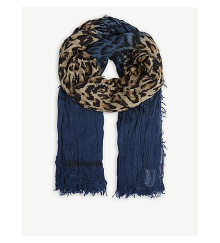 ZADIG & VOLTAIRE Delta Leo scarf (Blue
