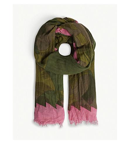ZADIG & VOLTAIRE Delta camouflage scarf (Green