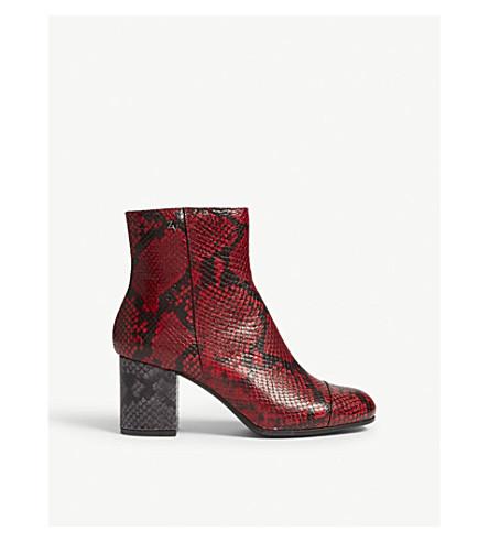 ZADIG & VOLTAIRE Lena Wild heeled boots (Rouge