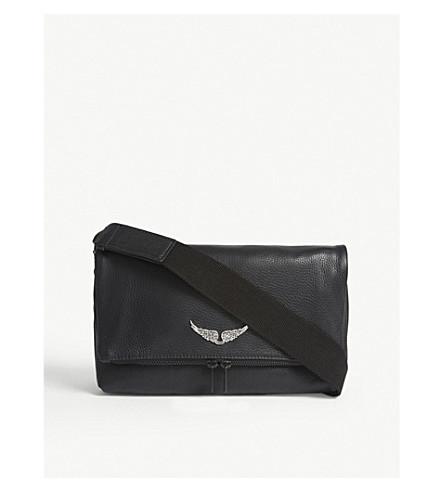 ZADIG & VOLTAIRE Rocky grained leather shoulder bag (Black