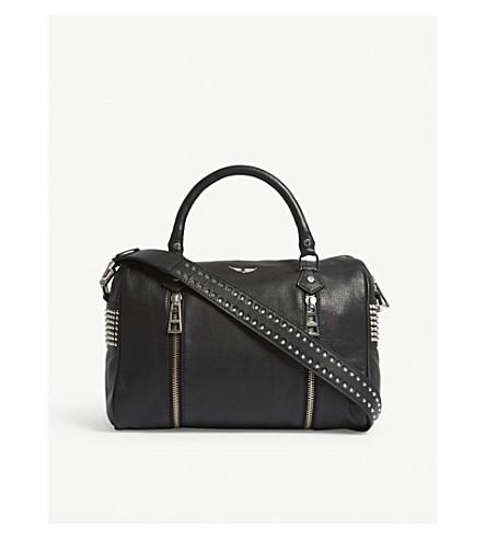 ZADIG & VOLTAIRE Sunny medium leather bowling bag (Noir